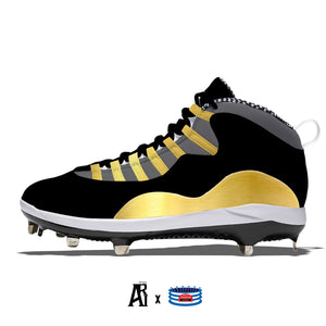 """Trophy"" Jordan Retro 10 Metal Baseball Cleats"