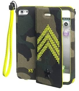 Custodia Cover Agenda in Tessuto per iPhone 5 5S SE Sweet Years Giallo