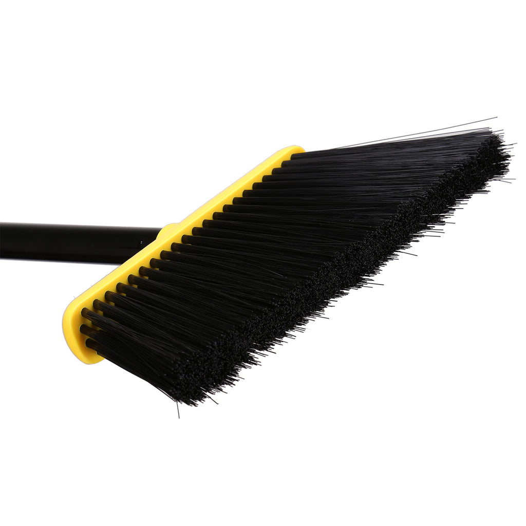 Angle Brooms and Dustpan, Dust Pan Snaps On Broom Handles - Yellow And Black