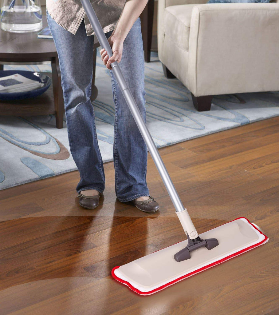 Household Dust Mops & Pads Microfiber Mop - Wet And Dry Dust Flat Mops Red