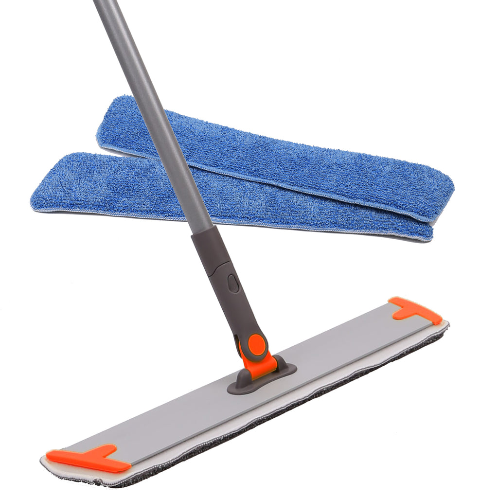 "18"" Professional Microfiber Mop 360 Flat Mop for Floor Cleaning Orange"