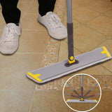 "18"" Professional Microfiber Mop 360 Flat Mop for Floor Cleaning Yellow"