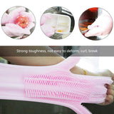 Magic Reusable Silicone Gloves, Dishwashing and Cleaning Gloves(Pink)