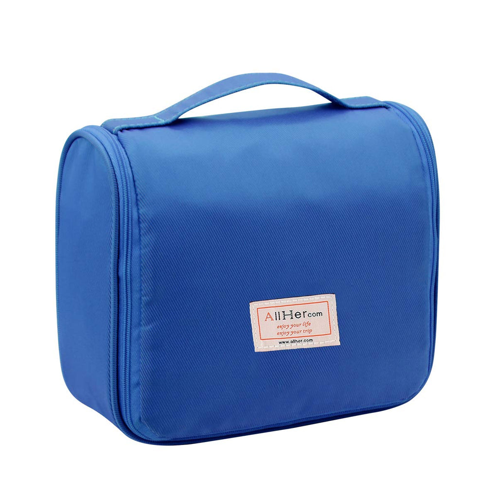 Hanging Travel Toiletry Bag Cosmetic Bag Makeup Bag with Sturdy Hook Blue