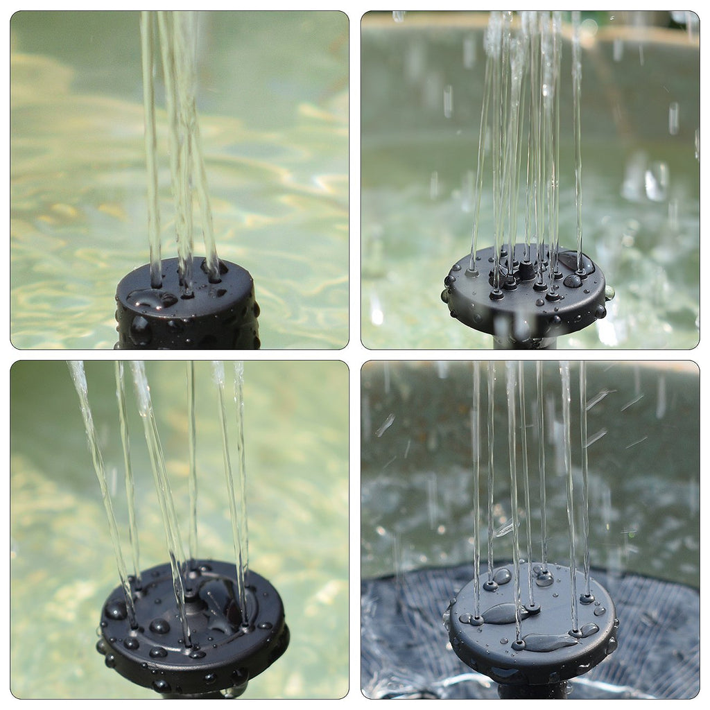 Solar Fountain Water Pump for Bird Bath, Submersible Solar Panel kit Pond (1.4W)