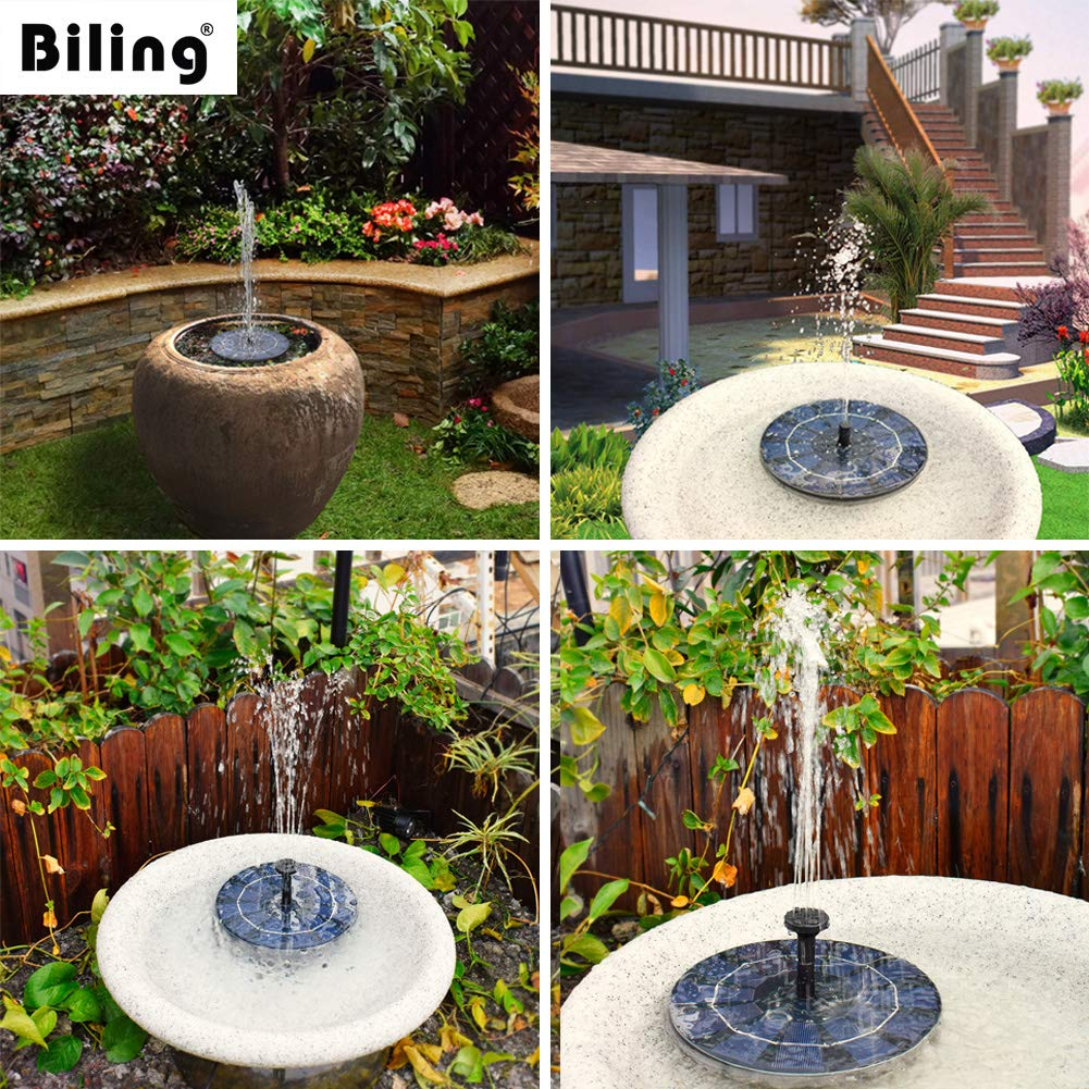 Solar Bird Bath Fountain Pump with 800 mAh Battery Backup (2.5W)