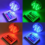 Submersible Led Lights with Remote 2019 Underwater Led Lights (4 Pack)