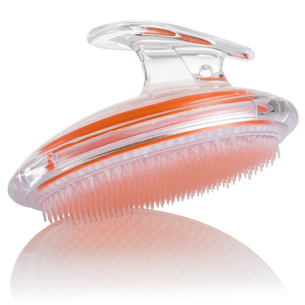 Exfoliating Brush to Treat and Prevent Razor Bumps and Ingrown Hairs (Orange)