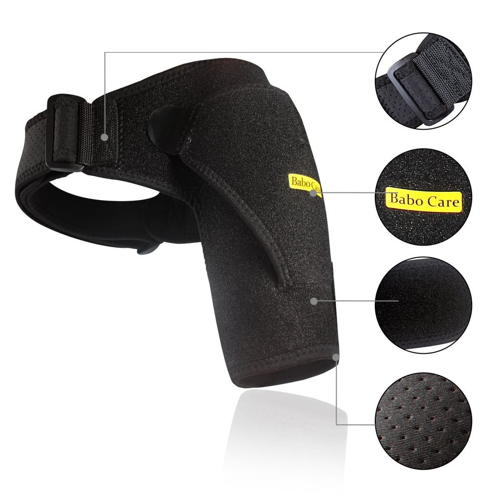 Shoulder Stability Brace with Pressure Pad Light and Breathable Neoprene Shoulder Support