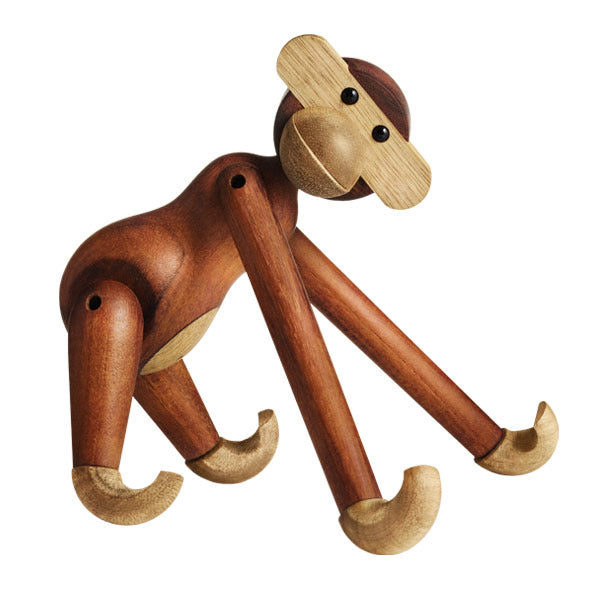 Kay Bojesen Wooden Figurine Monkey Small, Wood, brown, 20 cm