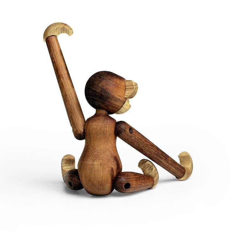 Kay Bojesen Wooden Figurine Monkey Mini, Wood, brown, 9.5 cm