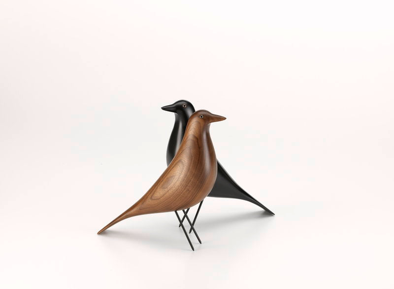 Vitra House Of Charles And Ray Eames Was A black, Wooden Bird 28CM
