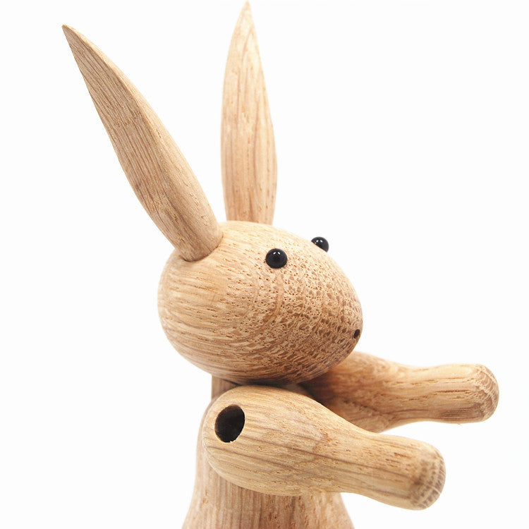 Kay Bojesen Rabbit Wooden Figurine - Oak H 16CM