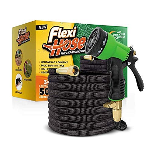 8 Function Nozzle, 50 FT Lightweight Expandable Garden Hose