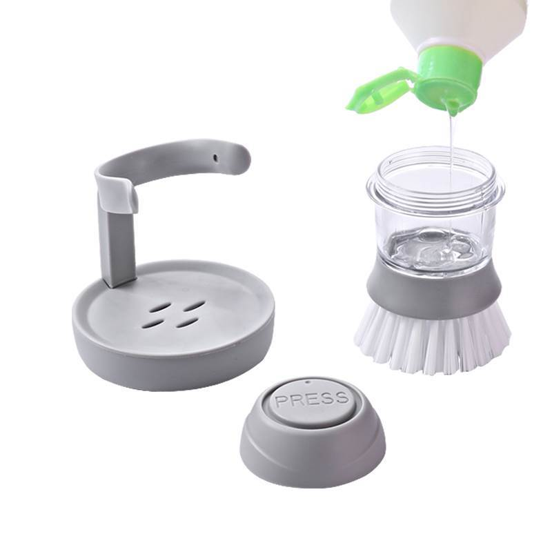 Good Grips Soap Dispensing Palm Brush With Pedestal (Grey)
