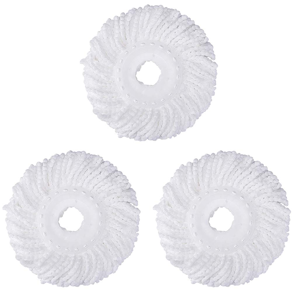 3 Replacement Mop Micro Head Refill Hurricane for 360° Spin Magic Mop (3 Pack)