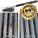 "Grill Brush and Scraper Best BBQ Brush for Grill, Safe 18"" Stainless  3 in 1"