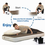 Air Pump Air Mattress Pump for Inflatable Blow up Pool Raft Bed Boat Toy