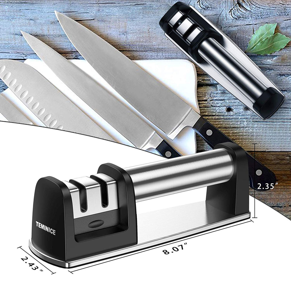 Upgraded 2019 Version Kitchen Knife Sharpener for Straight Steel Knives 5S Best