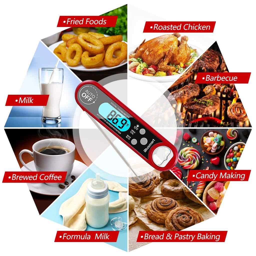 Meat Thermometer, Blusmart Instant Read Cooking Thermometer with IP67
