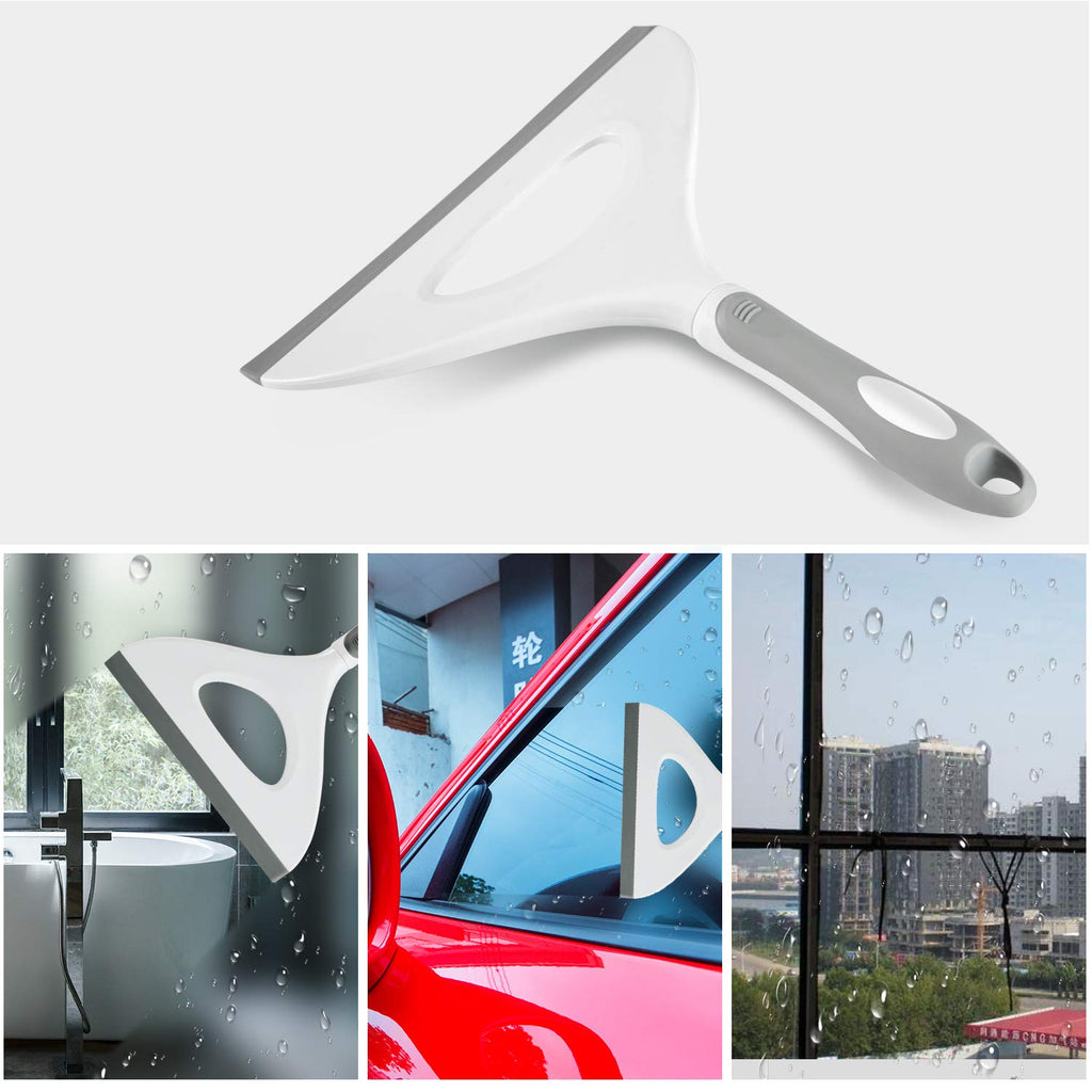 Shower Squeegee with Hanging Hole, Mirror,Window and,Car Window Brushes