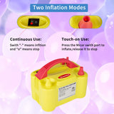Portable Dual Nozzle Rose Red 110V 600W Electric Balloon Blower Pump (Yellow)