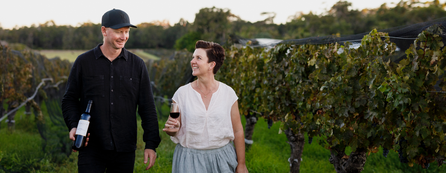 Annette and Scott Baxter from Gralyn Estate