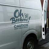 Bees in transit van decal