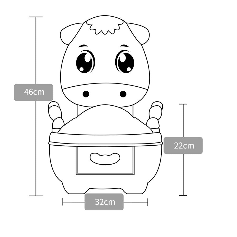 Potato Baby Poilet Learn-to-Flush Potty, Frustration Free Packaging(DA-6808) - PotatoBB