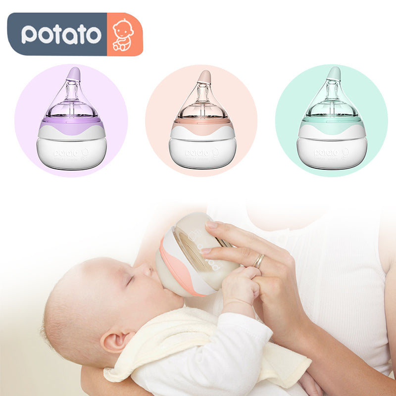 Drop shape Wide neck Newborn's Bottle 2 Pack (Glass, 2.5oz/80ml, For 0-4m)