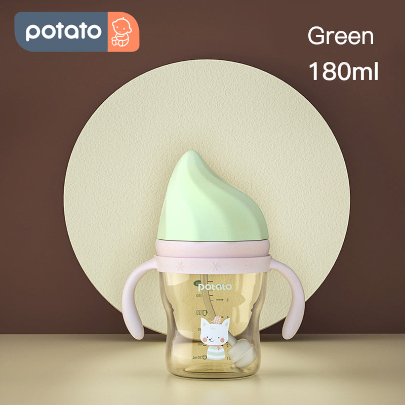 Potato Natural Baby Bottle Newborn PPSU bottle BPA free (6oz/8.5oz, SU10687) - PotatoBB