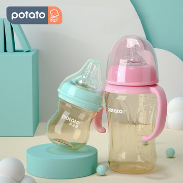 Potato Natural Baby Bottle Newborn PPSU bottle Set BPA free (2.5oz/10oz Set, TSU10670&SU2050)