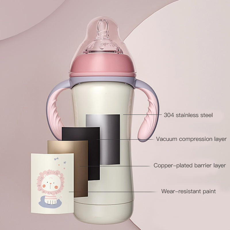 Baby Stainless Steel Vacuum Cup Drinking Cup Straw Cup (8oz, 3 in 1, LCF-Cup) - PotatoBB