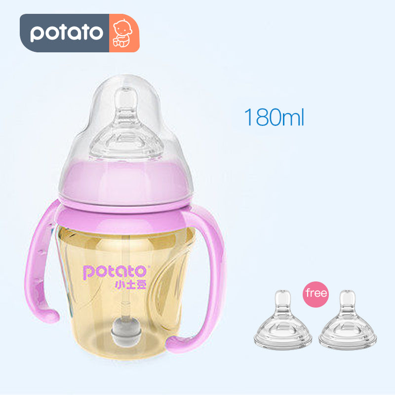 Potato Natural Baby Bottle Newborn 3in1 PPSU bottle Set BPA free (6oz/10oz, BGE-bottle, 3in1) - PotatoBB