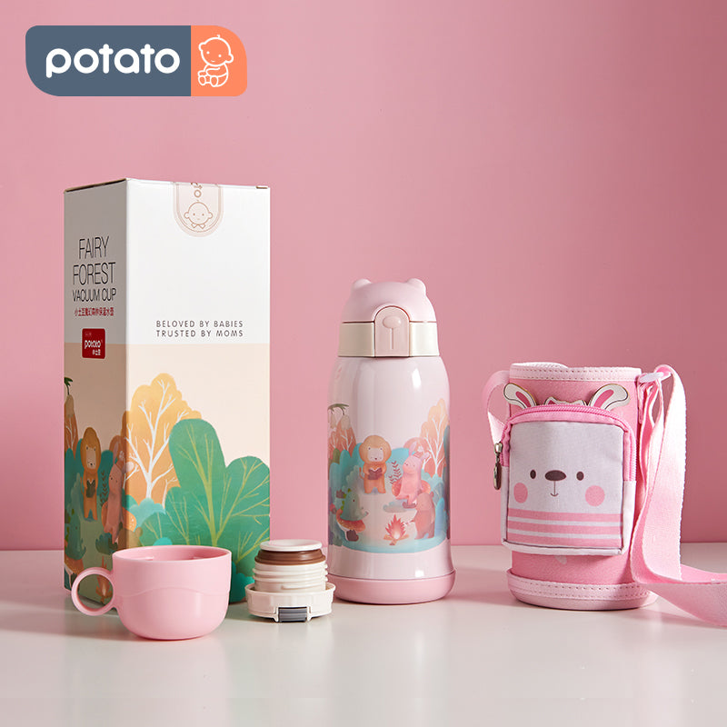 Child Stainless Steel Vacuum Cup Gift Set (10oz, Forest-Cup Set) - PotatoBB