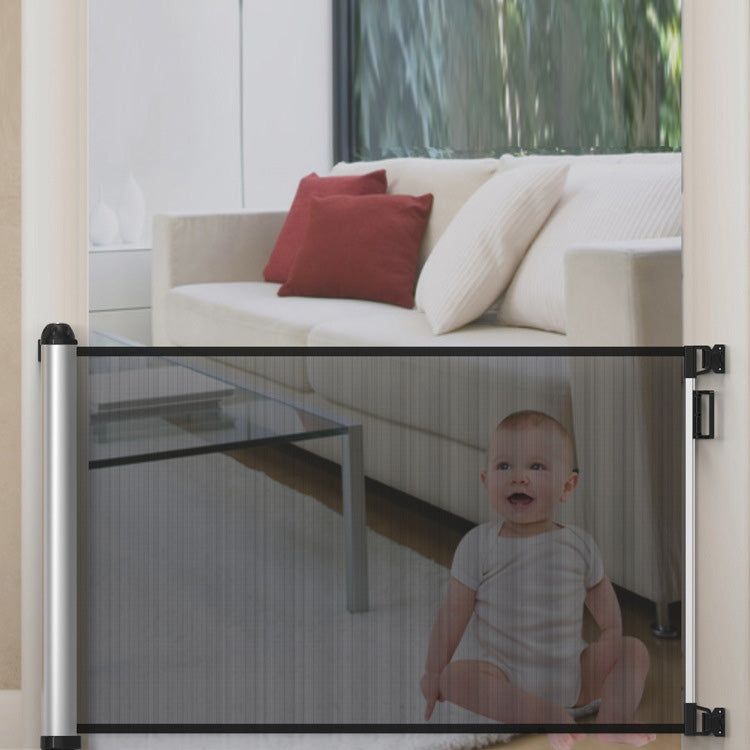 Potato Retractable Baby Gate Extra Wide Baby Safety Mesh Gate