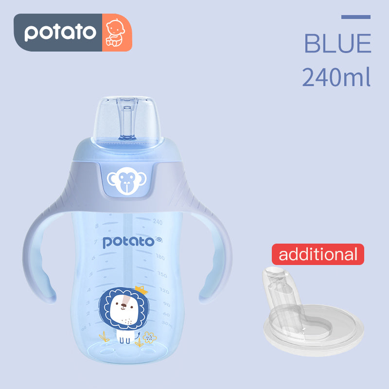 POTATO Baby Water Cup Drinking Bottle Sippy Suction Cup (8oz/10oz, KC6018) - PotatoBB