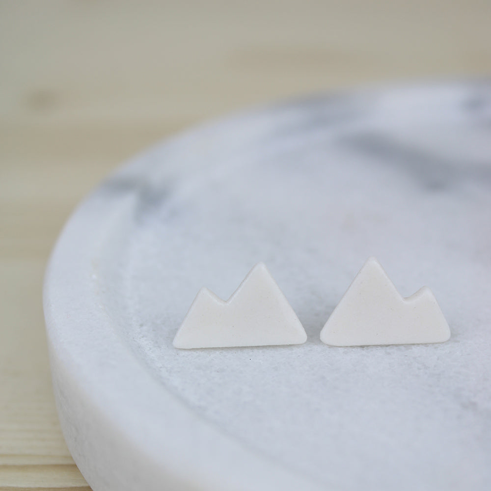 Porcelain Mountains Studs