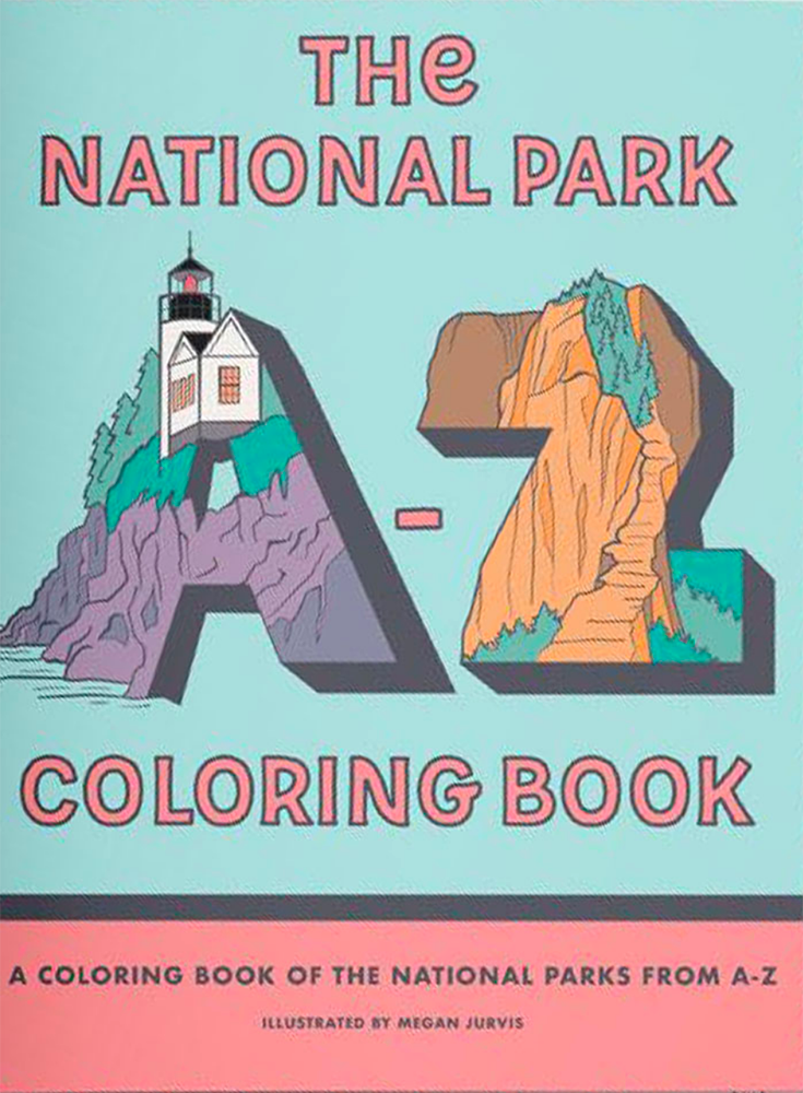 National Parks A-Z Coloring Book