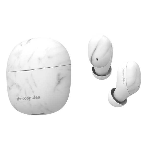 thecoopidea BEANS AIR True Wireless Earbuds - WhiteMarble