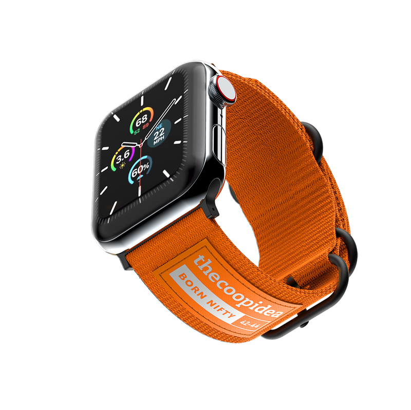 thecoopidea - Durable Nato Apple Watch Straps - Orange