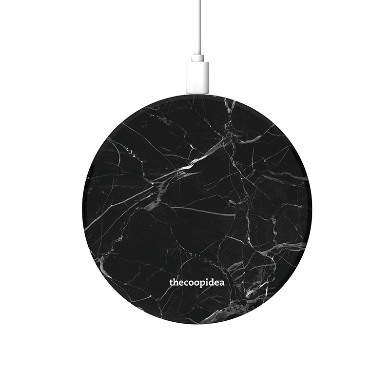 thecoopidea - MOON - Marble Black Wireless Charging Pad