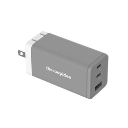 MINI BLOCK S - USB C 65W 3 Ports PD GAN Charger - Grey