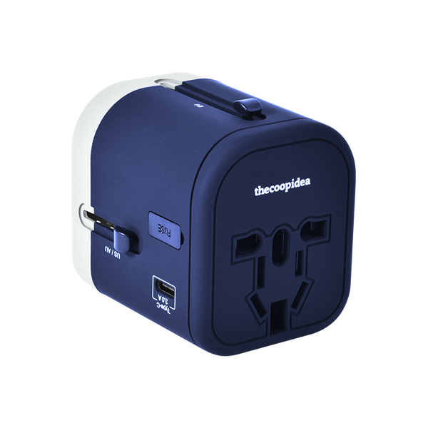 thecoopidea - WANDER PLUS 4 IN 1 Travel Adapter- Navy
