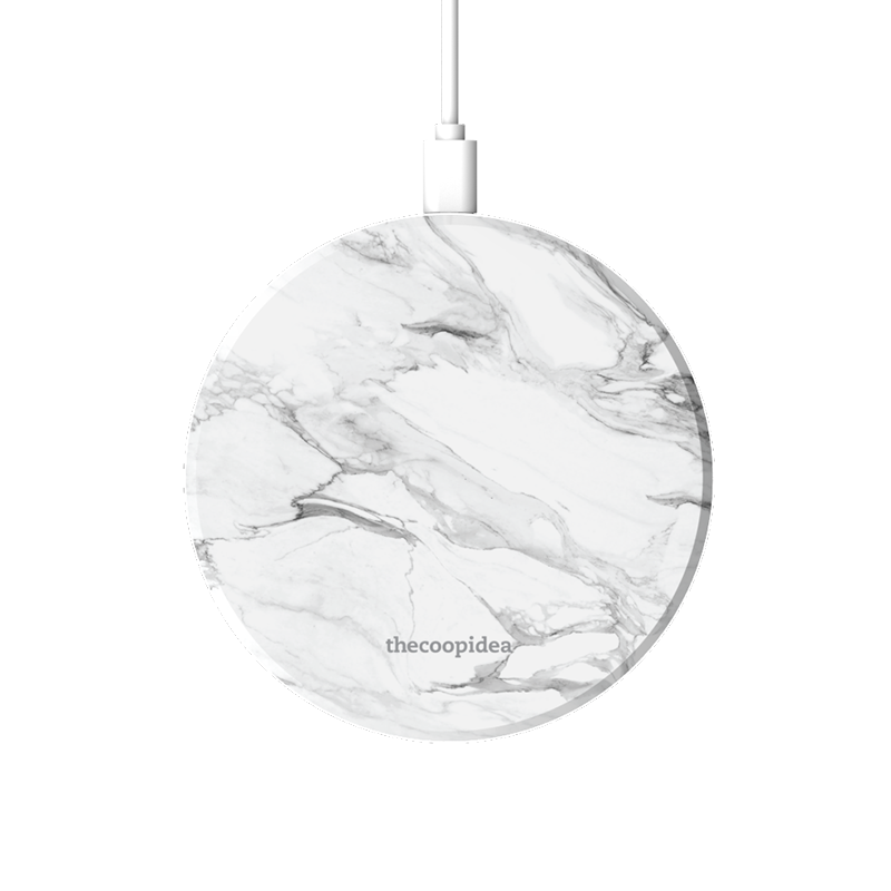 MOON - Marble White Wireless Charging Pad