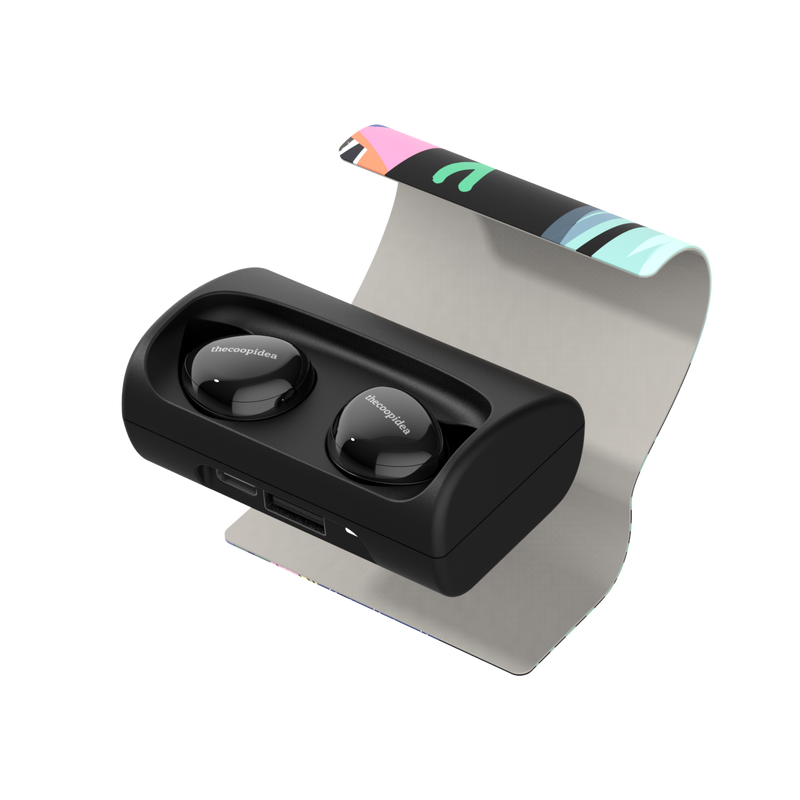 thecoopidea - BEANS+ True Wireless Earbuds - Black