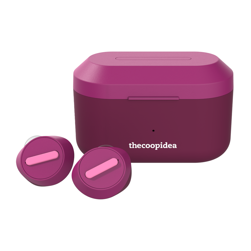 thecoopidea - BEANS PRO ACTIVE True Wireless Earbuds - SmokyPurple