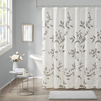 Cecily Burnout Printed Shower Curtain.