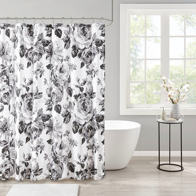 Dorsey Floral Printed Shower Curtain.