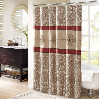 Donovan Embroidered Shower Curtain.
